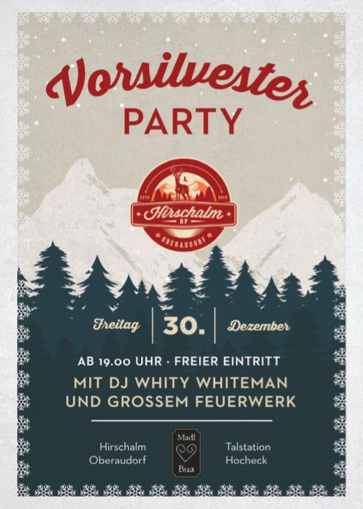 Vorsilvester Party Flyer