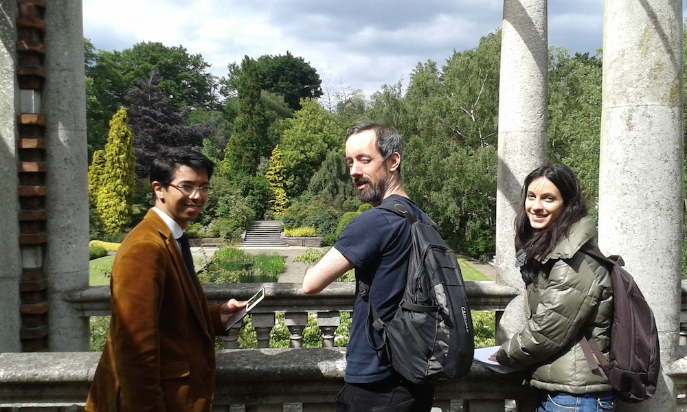 One of the stunning locations which Director Vaskar Kayastha has chosen for the beautiful short film Vita. Vaskar with DoP Mark Minors and 1st AD Federica Freddi. I am on the sound but cannot resist taking a few shots of our wonderful crew.