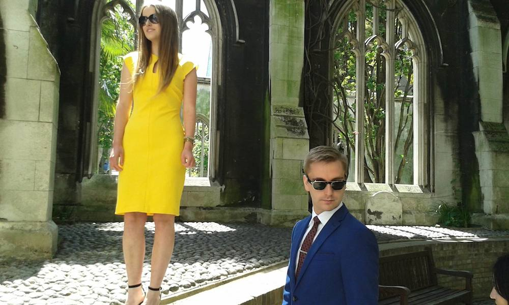 Future Hollywood stars  Talitha Parker and Mark Johnson. Should go straight to the poster of Vaskar's short film Vita.