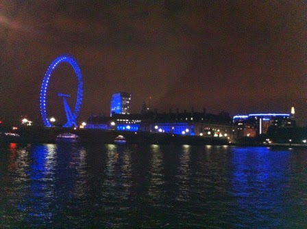 View of the Thames taken from the terrace of the House of Commons