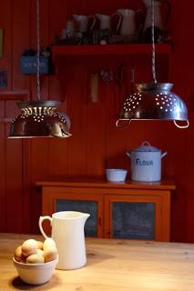 Old colander lights