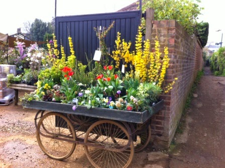 Petersham Nurseries  entrance: what a welcome sight!