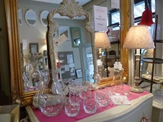 Vintage glassware, mirrors, lamps....