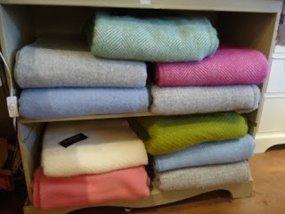 Lovely pure wool throws in a range of fabulous colours....