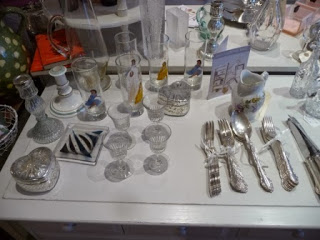 Antique glassware and cutlery, quirky items.....