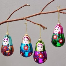I'm always on the lookout for unusual Christmas tree decorations and these are fab
