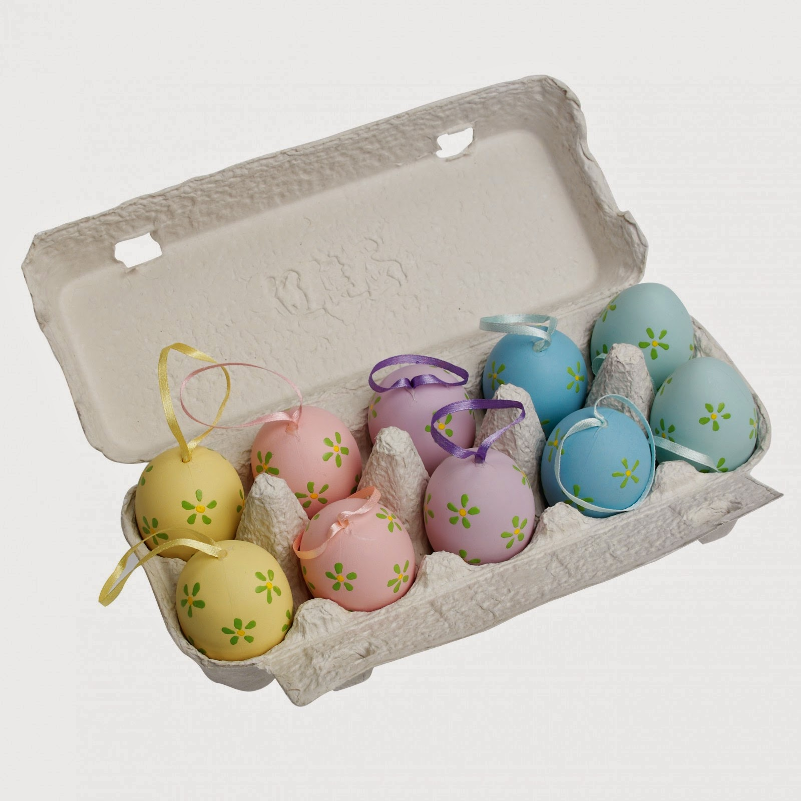 10 hand painted hanging Easter eggs