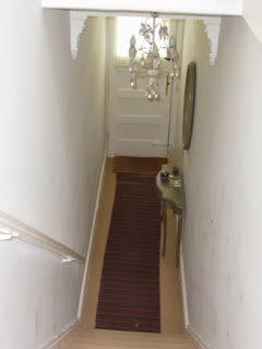 This is why I wanted to try and make a feature of this space. I previously had carpet on the stairs and entrance with a rug over the carpet downstairs.