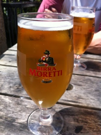 A large Moretti to quench the thirst ...