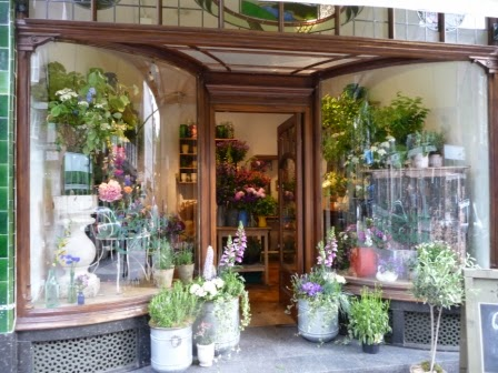 Scarlet and Violet pop-up shop in Anthropologie for the Chelsea Flower Show week.