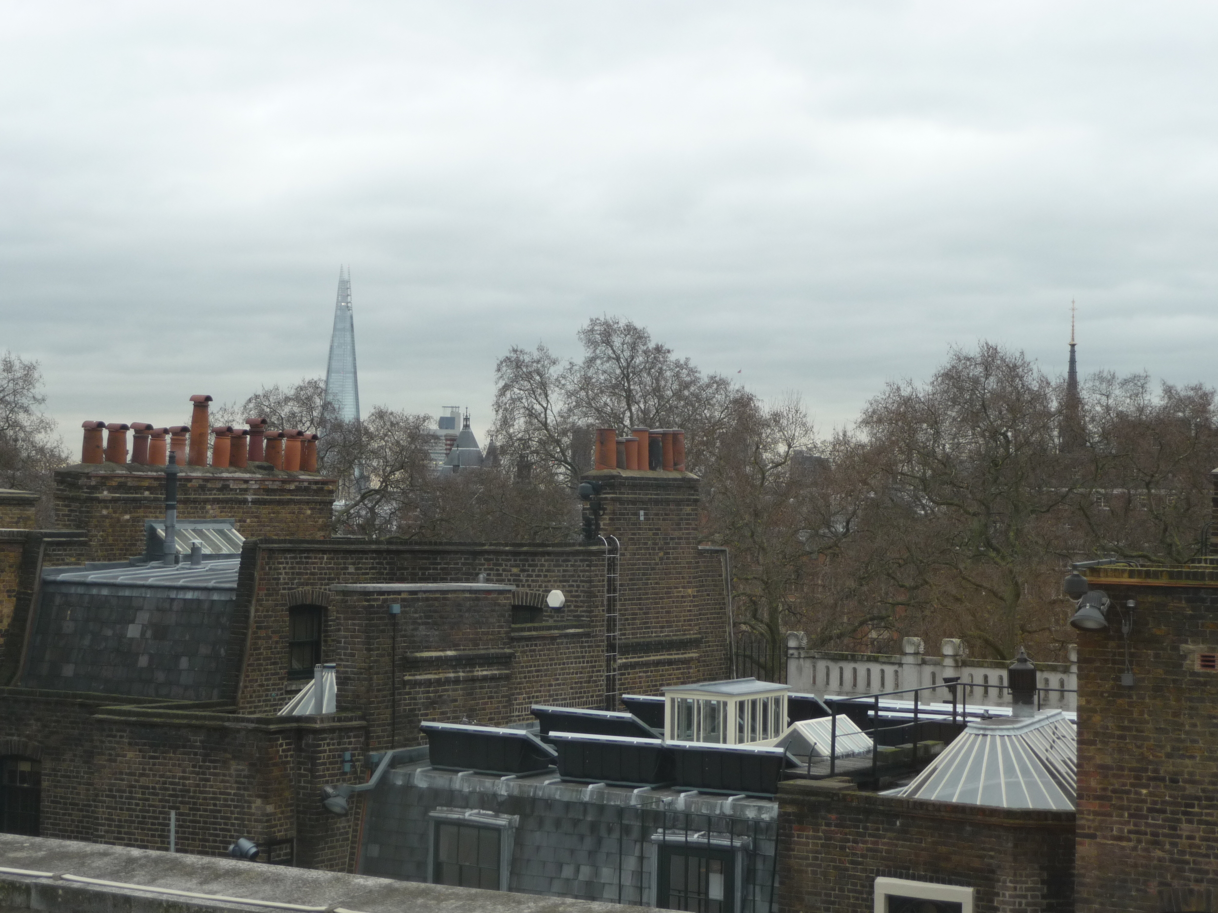 View from my hotel window with The Shard in the distance