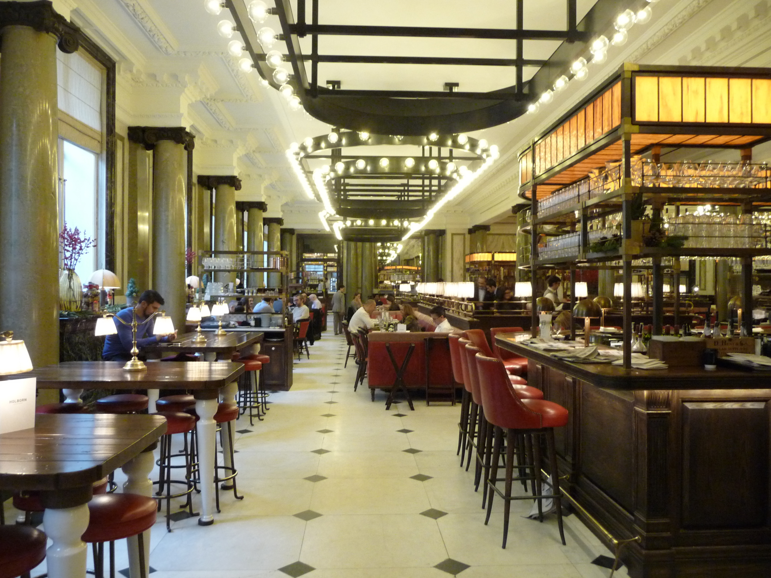 The stunning Holborn dining roomrestaurant where I had the most amazing three course supper