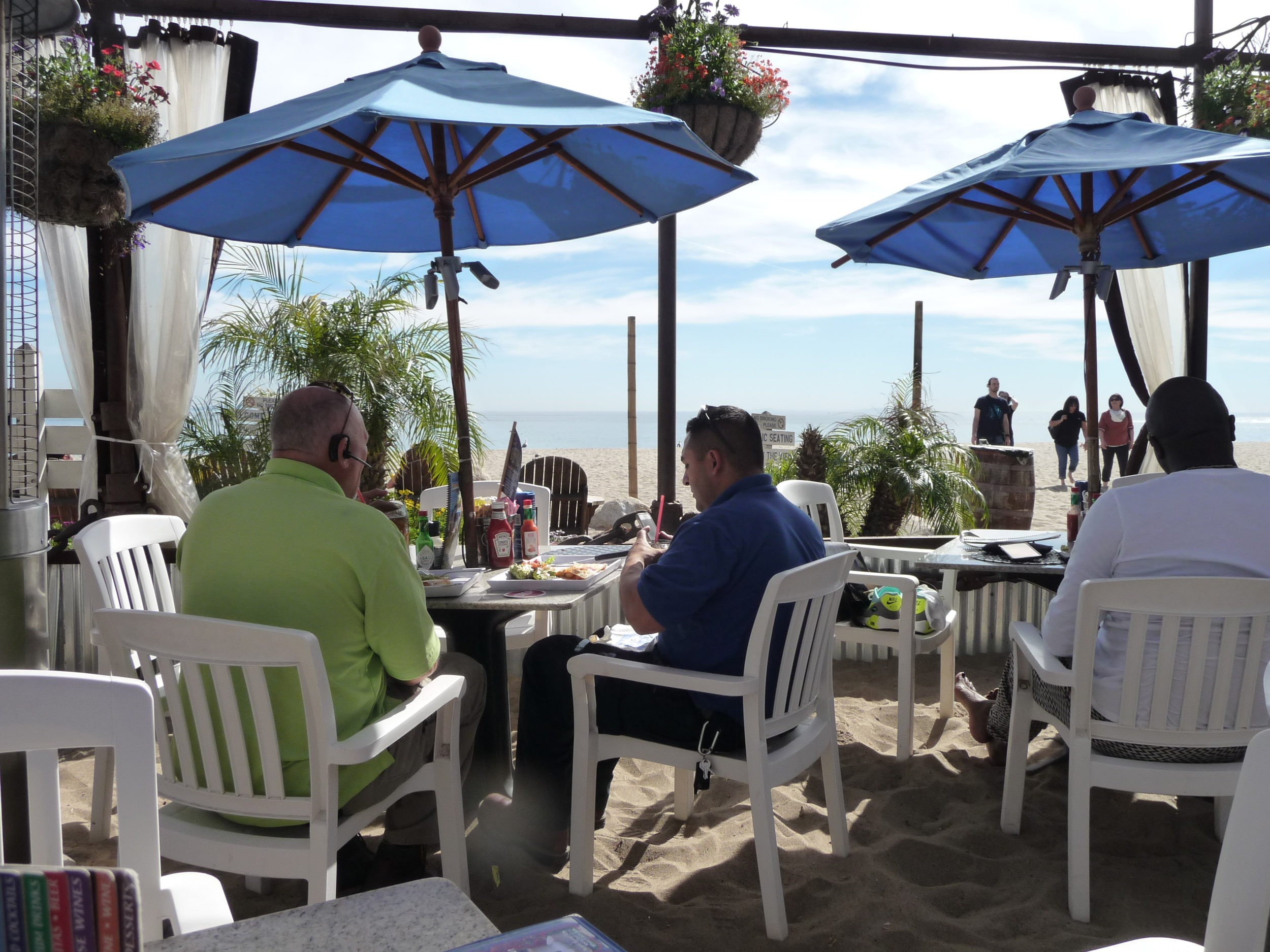 View from our table at the Paradise Cove Cafe