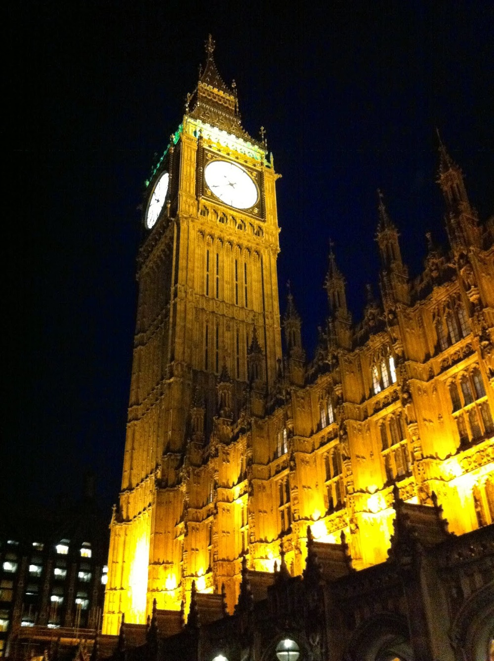 House of Commons and Big Ben at 11pm