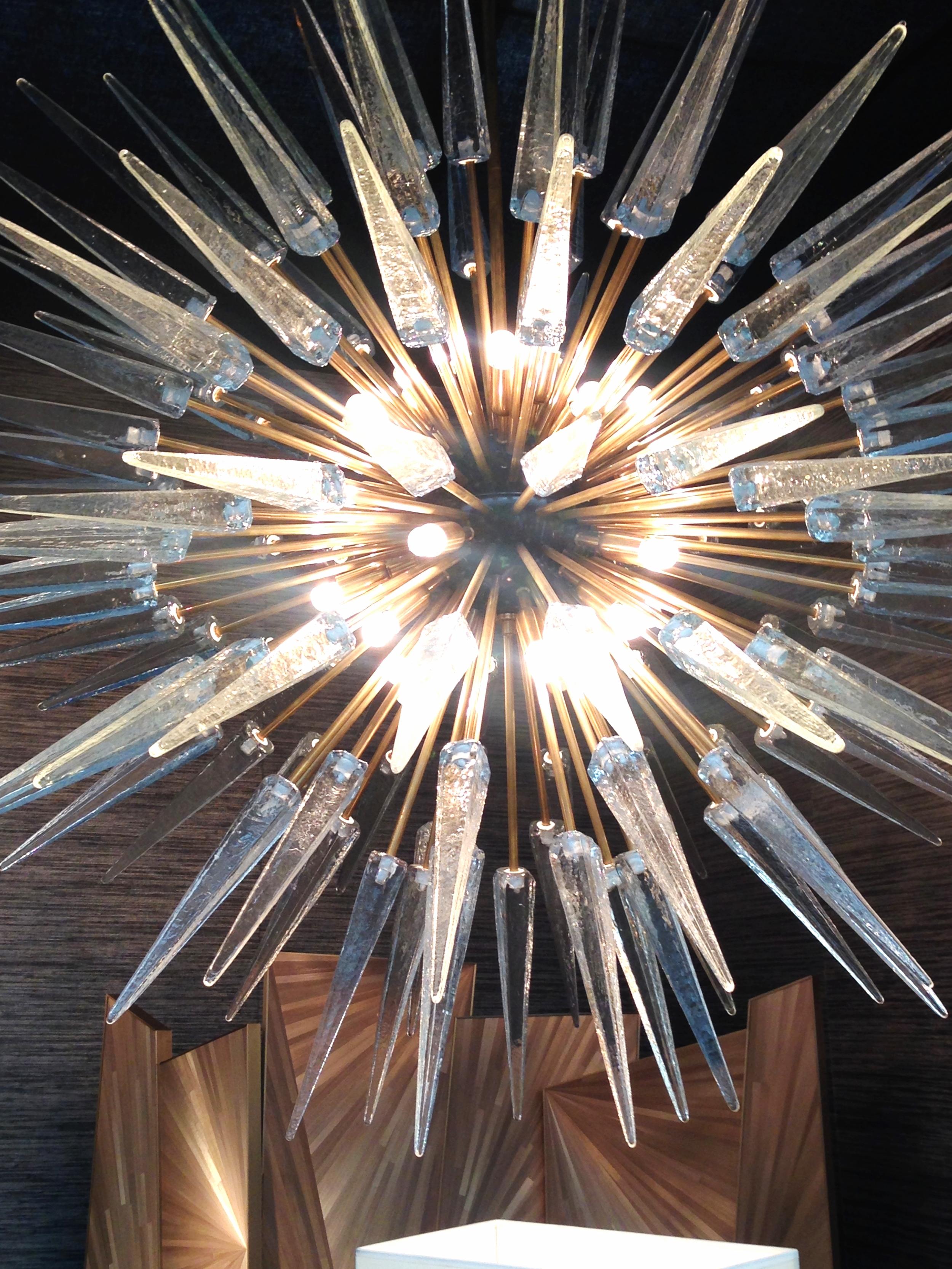 Love this sputnik shard chandelier from Charles Burnand Lighting