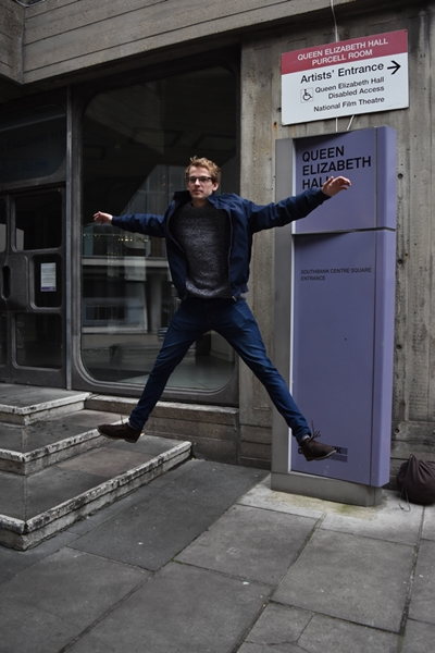 Our tutor, Joshua Bareham, jumping so we could learn how to take action shots. I had loads of blurred photos but finally got it right .......... at least I think I did!!
