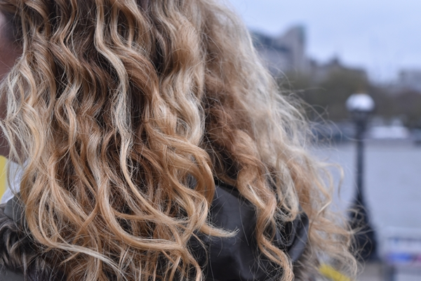 Beautiful hair of one of the students