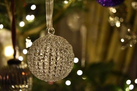 Another beautiful glass bauble from The  White Company