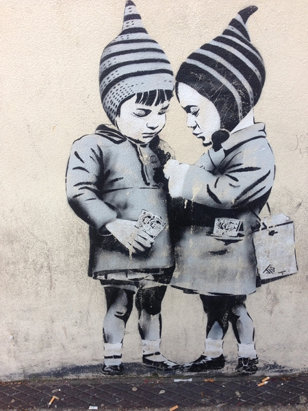 This street art is one of my faves - Big Deal by JPS
