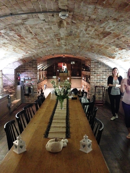 My friends hired this room in the cellars for a private party. It was being set up for a wedding.