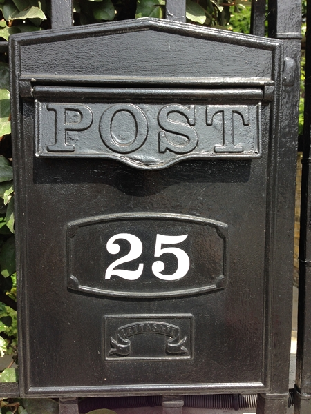 A rather grand letterbox!