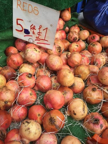 Fruit & veg stalls in Golborne Road