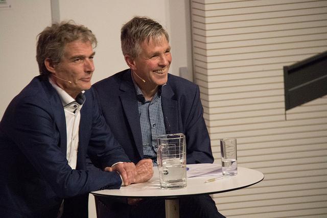 Met advocaat Stijn Franken tijdens de 'maand van de ethiek' op de Nijmeegse rechtenfaculteit