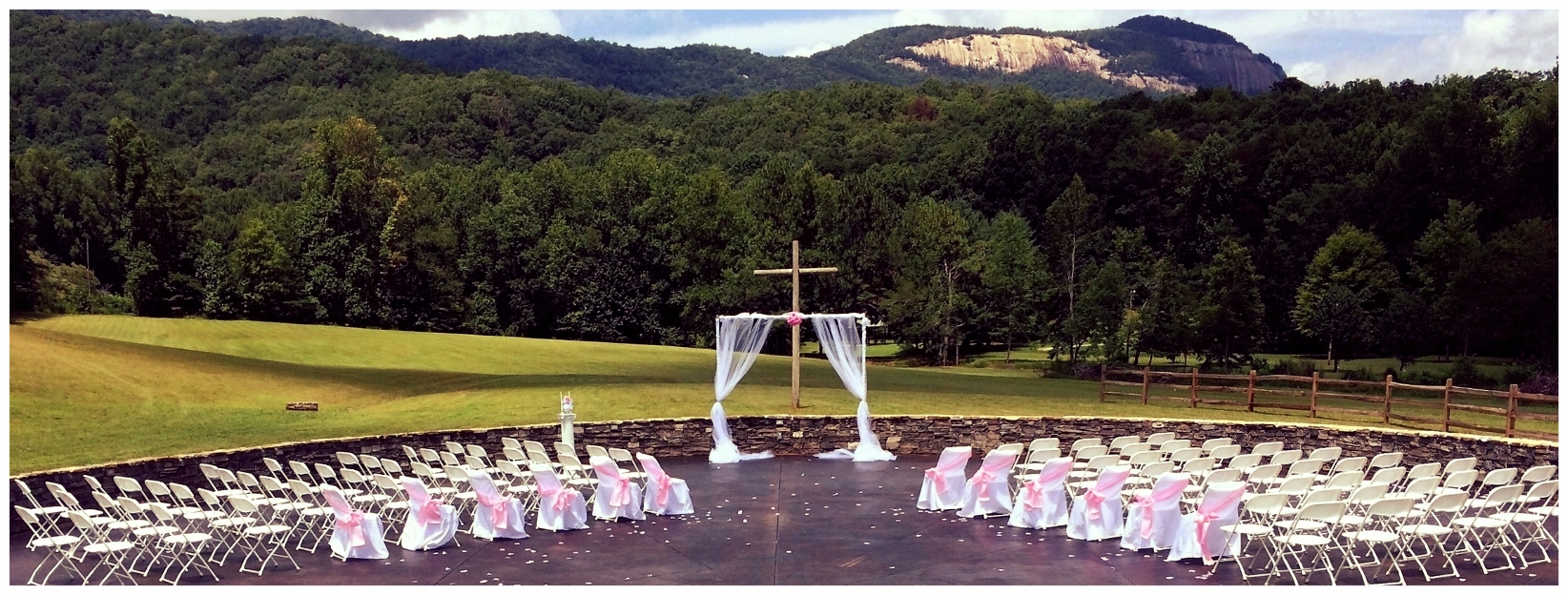 THE MEADOW - The Meadow is the newest addition to TRRCC! Designed to face Table Rock Mountain, the Meadow is the perfect location for outdoor weddings, memorial services, concerts, etc..Rental Cost: $600