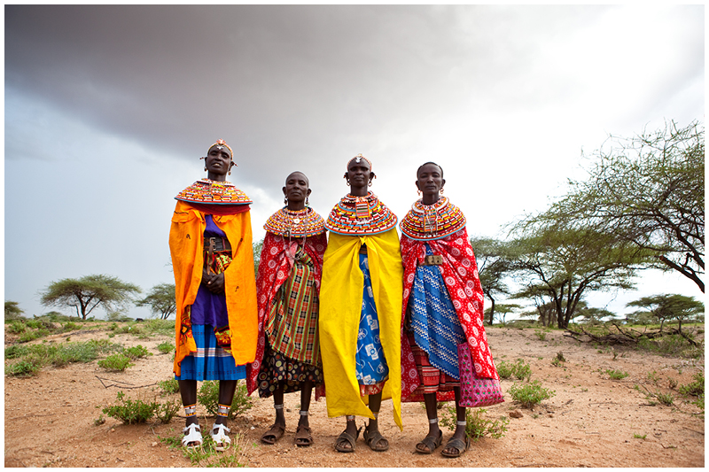 Samburu women are always adorned in a dazzling display of fabrics  and colourful beads. These beads are not just for beautification, they usually have a story to tell about whether a woman is engaged, being courted, or married.