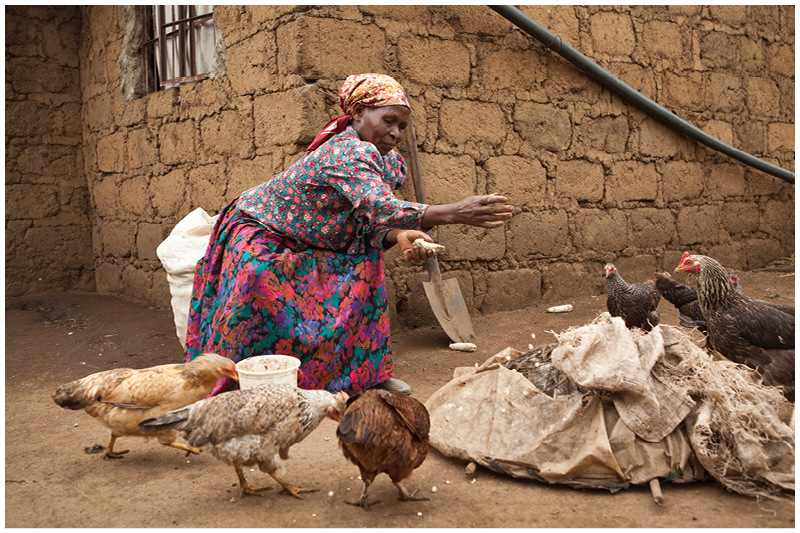 Although she cannot pay for her grandsons' uniforms and school supplies. she is always very generous with eggs and produce from her land on return for the help she receives.