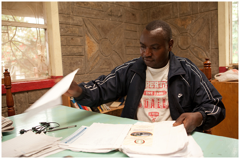 Chege is the manager at JWHS and his role is extends from paperwork and administration to maintenance and woodwork.