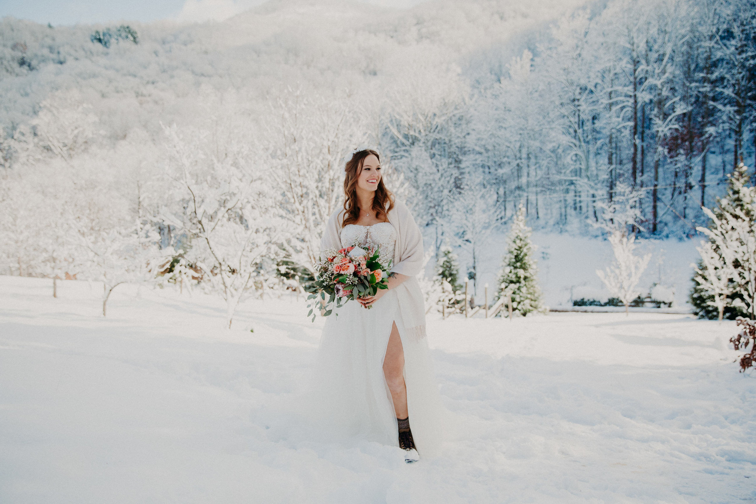 Surprise Snow Wedding -
