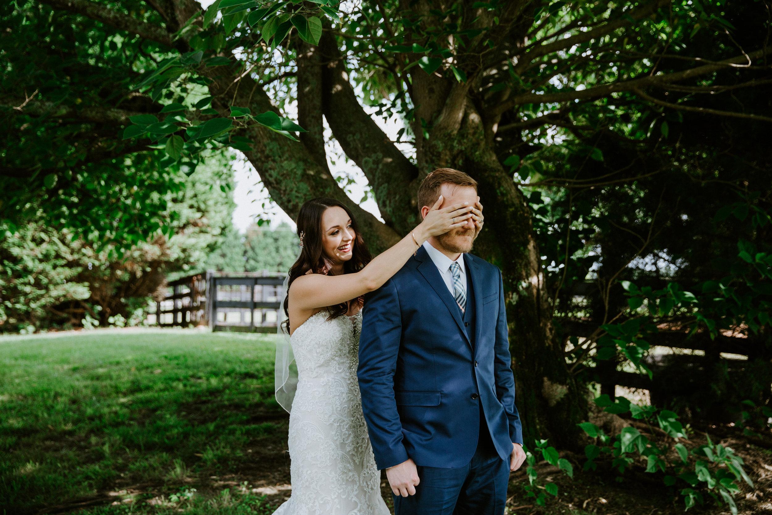 First Look Wedding Photos Taylor Heery Photography