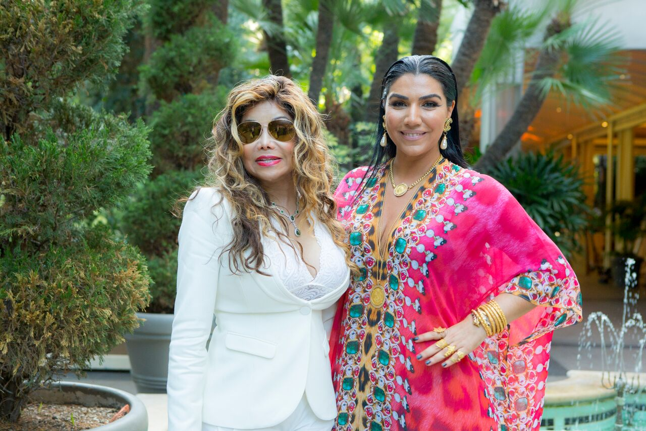 La Toya Jackson and Asa at the Asa Kaftans x City of Hope Charity Fashion Show at the Four Seasons Hotel in Beverly Hills.
