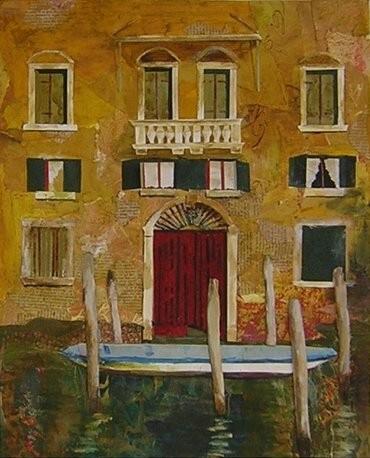 """Venice Facade - 4"""" x 18"""" - $1200"""