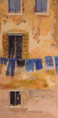 """LAUNDRY DAY Collage  10"""" x 20"""""""