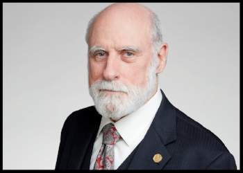 """Vinton G. Cerf is Vice President and Chief Internet Evangelist for Google. He contributes to global policy development and continued spread of the Internet. Widely known as one of the """"Fathers of the Internet,"""" Cerf is the co-designer of the TCP/IP protocols and the architecture of the Internet. He has served in executive positions at MCI, the Corporation for National Research Initiatives and the Defense Advanced Research Projects Agency and on the faculty of Stanford University.  Vint Cerf served as chairman of the board of the Internet Corporation for Assigned Names and Numbers (ICANN) from 2000-2007 and has been a Visiting Scientist at the Jet Propulsion Laboratory since 1998. Cerf served as founding president of the Internet Society (ISOC) from 1992-1995. Cerf is a Foreign Member of the British Royal Society and Swedish Academy of Engineering. He currently serves as Past President of the Association for Computing Machinery, chairman of the American Registry for Internet Numbers (ARIN) and completed a term as Chairman of the Visiting Committee on Advanced Technology for the US National Institute of Standards and Technology. President Obama appointed him to the National Science Board in 2012.  Cerf is a recipient of numerous awards and commendations for his work, including the US Presidential Medal of Freedom, US National Medal of Technology, the Queen Elizabeth Prize for Engineering, the Prince of Asturias Award, the Tunisian National Medal of Science, and 29 honorary degrees."""