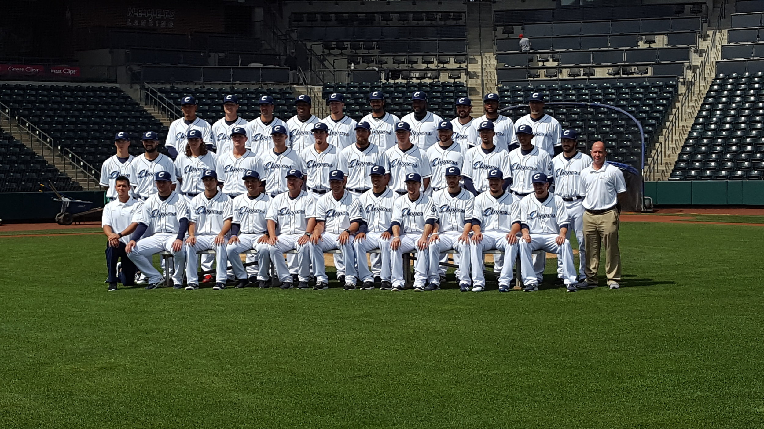 Ladies and gentlemen...your 2017 Columbus Clippers. Photo courtesy of Matt Shock / Our Sports Report.