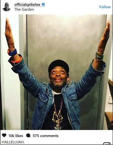 Photo is courtesy of Spike Lee's Instagram Account