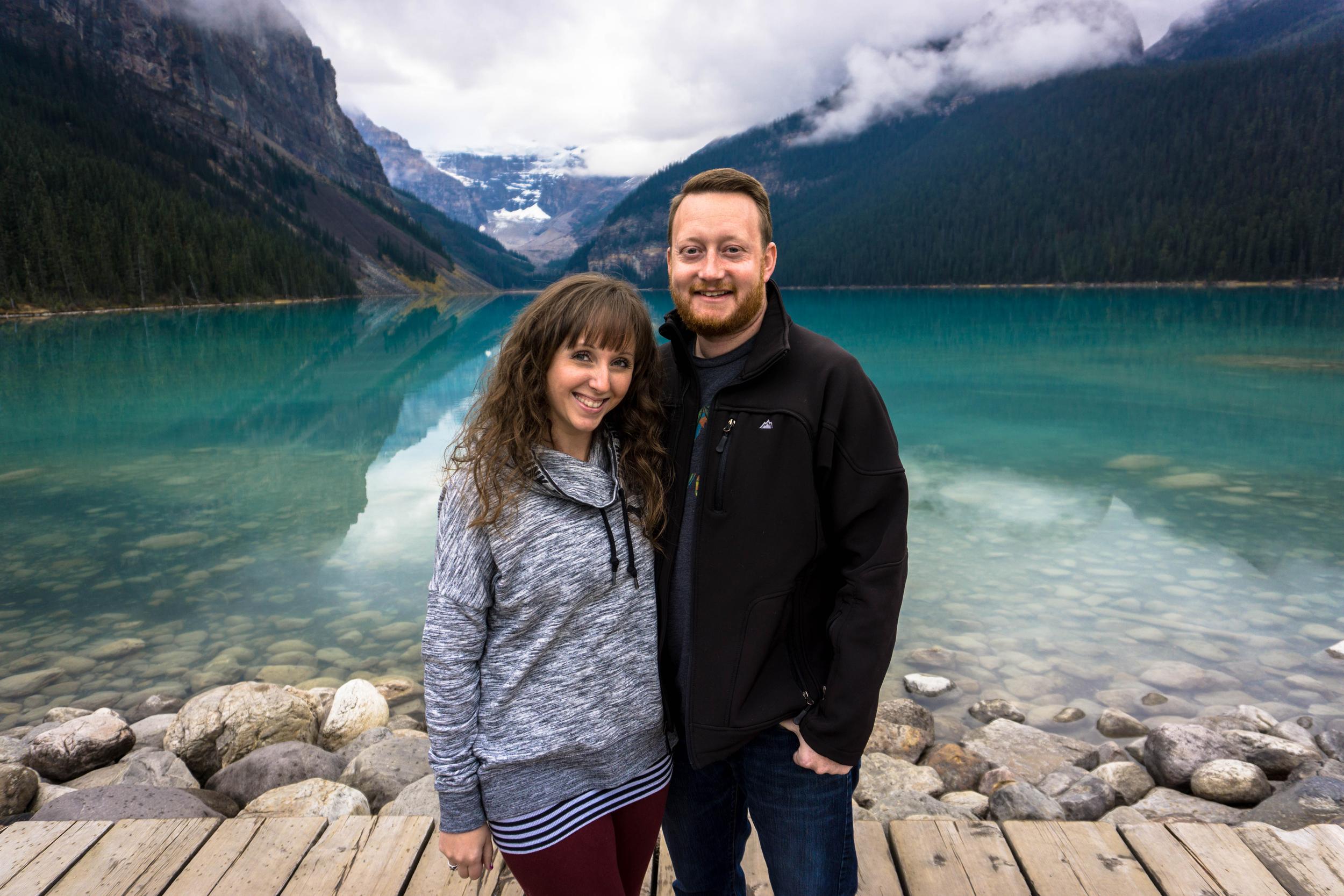 Dan and Amber in Lake Louise, Alberta, Canada.