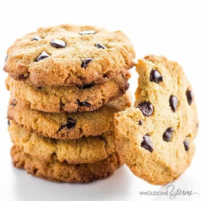 Sugar Free Low Carb Chocolate Chip Cookies | Wholesome Yum