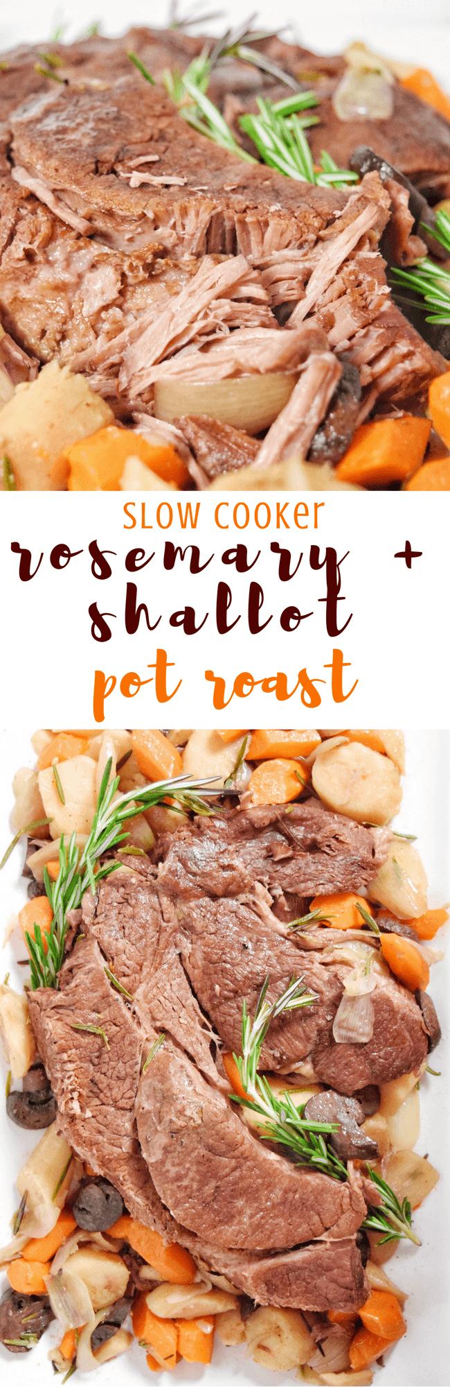 Slow Cooker Rosemary + Shallot Pot Roast (Paleo, Whole 30)   Personally Paleo
