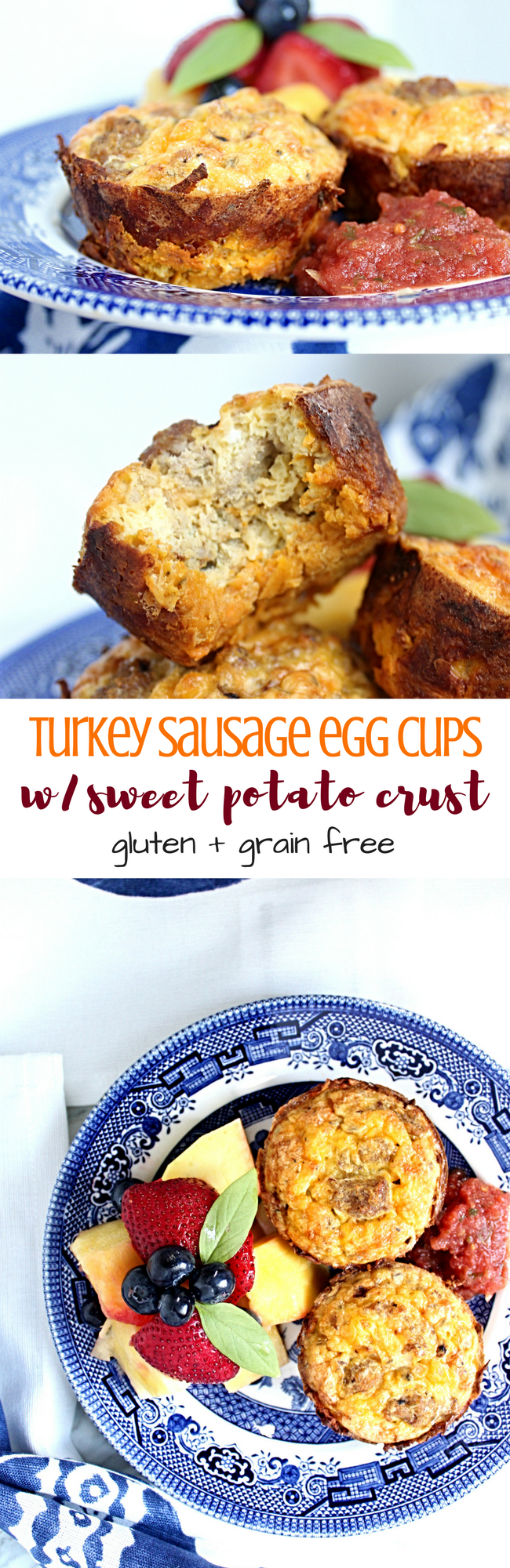 Turkey Sausage Egg Cups + Sweet Potato Crust [Guest Post by Macarons and Lavender] | Personally Paleo