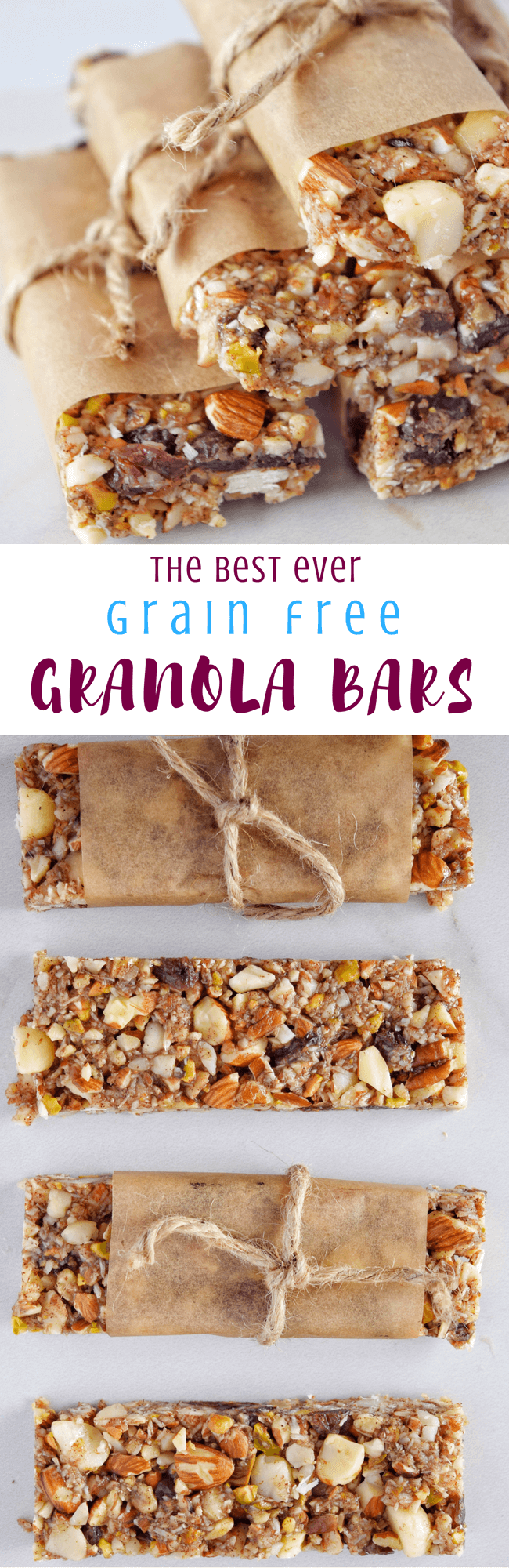 Best Ever Grain Free Granola Bars | Personally Paleo