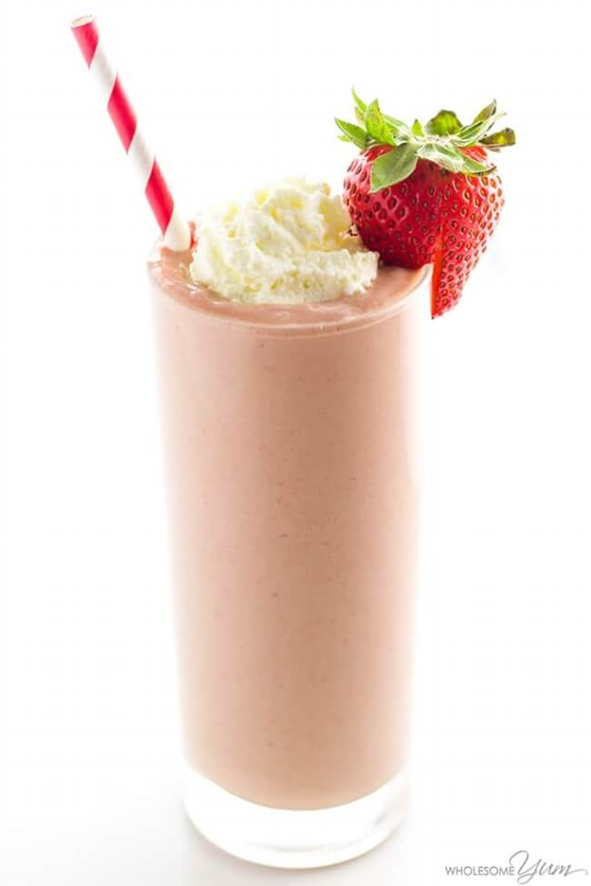 Low Carb Strawberry Smoothie | Wholesome Yum Blog