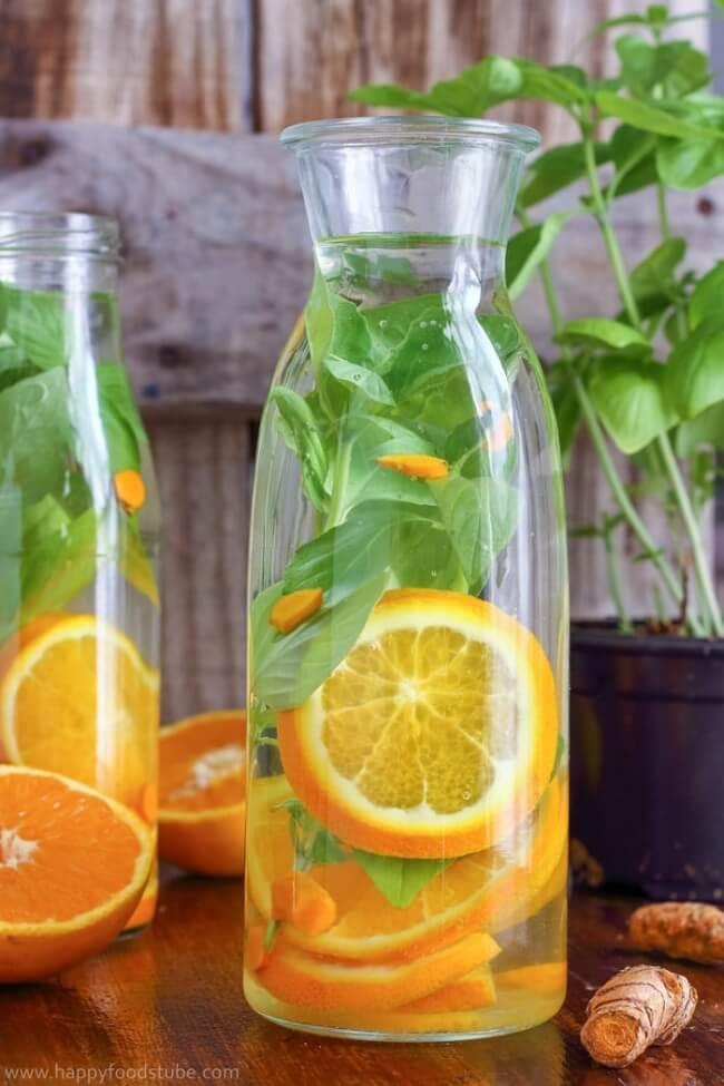 Orange Basil Infused Water | Happy Foods Tube