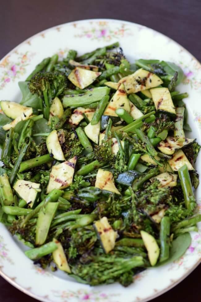 Grilled Green Vegetable Salad   Tasting Page