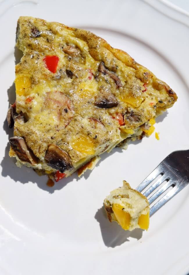 Low Carb Sweet Pepper Frittata (Dairy Free, Paleo) | Personally Paleo