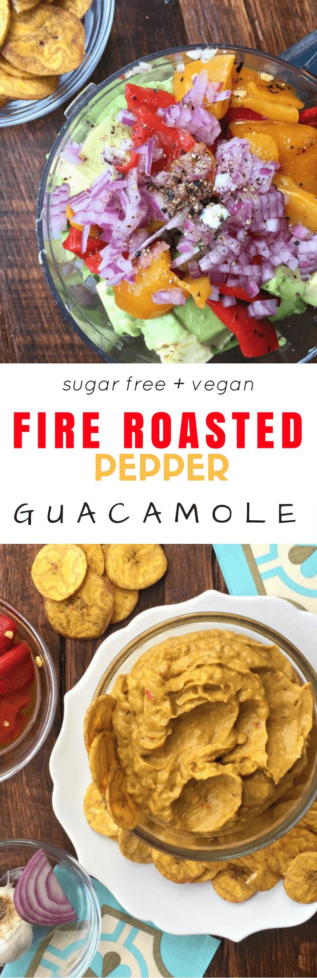 Fire Roasted Pepper Guacamole | Personally Paleo