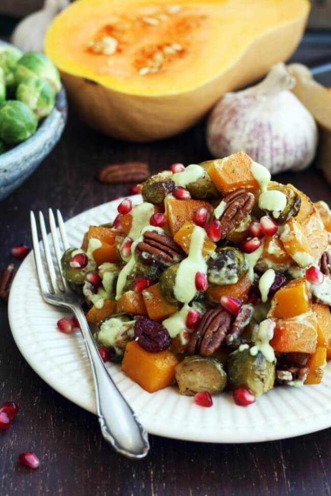 Roasted Brussels Sprouts with Butternut Squash | Happy Kitchen. Rocks
